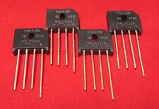 4pc 600V, 4A Bridge Rectifiers, 4 Leads, 600 Volt 4 Amp Low Profile Single Phase