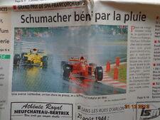 LOT: FORMULE 1 SPA FRANCORCHAMPS 1995 + 96+ 97 : VICTOIRE DE MICHAEL SCHUMACHER