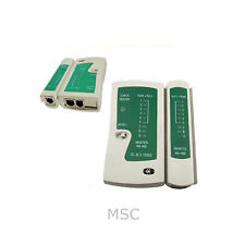 Rete Ethernet LAN CAT5e RJ45 RJ11 RJ12 COPPIA CAVI TESTER