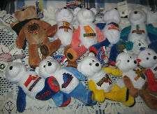 Lot Of 18-Limited Treasures Coin Bears-50 States Of America Coll. Bears-2001-02