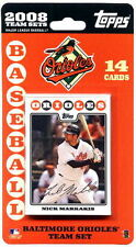 2008 Baltimore Orioles Topps MLB Factory Baseball Cards Team Set - 14 Cards