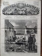 L'UNIVERS ILLUSTRE 1880 N 1298  LE GLACIER DE LA LOIRE: UNE RUE DE VILLEBERNIER