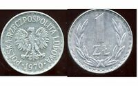POLOGNE  1 zloty  1970  ( bis )