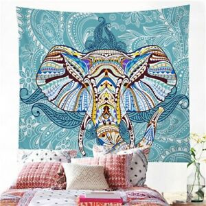Floral Elephant Mandala Wall Tapestry Hanging Throw Cover Home Room Decoration