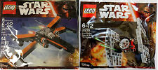 Lego Star Wars 30276 30278 Mini First Order Tie Fighter Po's X-Wing Fighter NEW