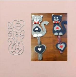 Love Cat bow Metal Cut Dies Stencils Scrapbooking Album Decorative Embossing
