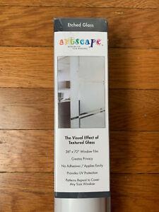 "Etched Glass Window Film 36"" x 72"", Artscape, Textured Glass Model 01-0122"