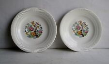 Vintage 2 Salem China Saucers Indian Tree  Made in U.S.A. 6 Inches Around