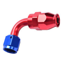 AN6 -6AN PTFE Seal Swivel Elbow 90 Degree Gas Oil Fuel Line Hose End Fitting