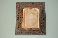 Antique Picture Frame Gilded Copper And  Antique  Photograph