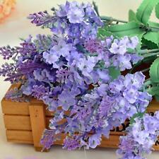Bouquet Artificial  Fake Silk Lavender Flower Wedding Garden Floral Cafe Decor