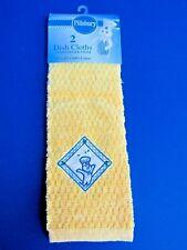 NWT 2005 Pillsbury Doughboy Yellow Embroidery Dish Cloths - 1 Pear/DB & 1 Solid