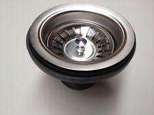 Stainless Steel Sink Strainer Drain Basket Waste Drainer with Plug -AU Standard