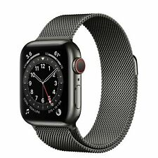 New Apple Watch Series 6 40mm Graphite Stainless Steel Milanese Loop with LTE