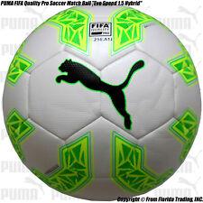 "Puma Official Match Soccer Ball ""Evo Speed 1.5 Hybrid""(5)White/Gree n 082706-04"