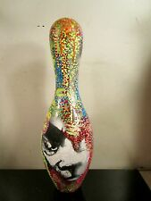 Hand PAINTED Bowling Pin by artist musk yai