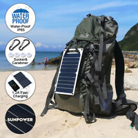 10W 6V Portable Mono Solar Panel USB Port Power Bank For Mobile Phone Charger US