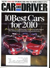 Car and Driver Magazine January 2010 Porsche 911 Turbo, Cayman,  Audi A5 2.0T