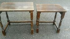 Solid Wood Traditional No Assembly Required 2 Nested Tables