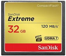 SanDisk Extreme 32gb CF Compact Flash Memory Card 32g 120mb/s UDMA 7 800x