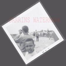 Unusual Vintage Snapshot Photo Random Black Boy w/ Crowd in Dutch Angle 692755
