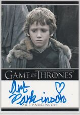 GAME OF THRONES SEASON 1 ART PARKINSON AS RICKON STARK AUTOGRAPH RARE BORDERED