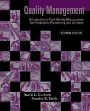 Quality Management: Introduction to Total Quality Management for-ExLibrary