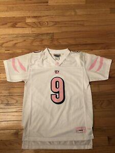 Carson Palmer Cincinnati Bengals NFL Reebok Girl's Alt Pink Jersey Size XL (16)