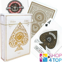 WHITE ARTISANS THEORY 11 PLAYING CARDS DECK GOLD MAGIC TRICKS SEALED USA NEW