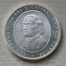 10 Euro Gedenkmünze BRD 2004 F, 200. Geburtstag Eduard Mörike, Silber