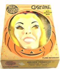 Vintage Ben Cooper Golden Princess Halloween Costume Mask/Outfit in Original Box