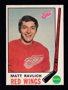 1969-70 MATT RAVLICH #161 EX-MT+ OPC NICE Detroit Red Wings Star NHL Hockey Card