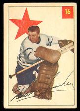 1954 55 PARKHURST HOCKEY #16 HARRY LUMLEY VG-EX TORONTO MAPLE LEAFS CARD