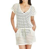 Calvin Klein Women's Swimsuit Cover Up Size L/XL  Crochet Drawstring Tunic
