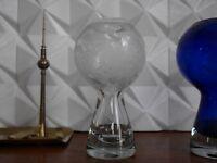 VEB Marita Vogt Berliner Fernsehturm Vase 60er farblos TRUE VINTAGE GDR designer
