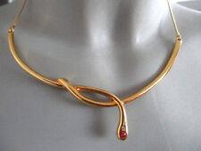DESIGN COLLIER ° Vintage ° Meistermarke LDADPR ° vergoldet ° Rubin / Zirkonia °