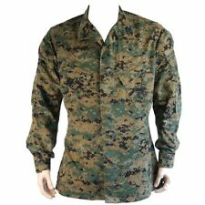 Usado genuino emitir USMC Marpat Woodland Shirt Small-Regular