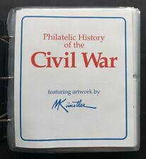 Philatelic History of the Civil War - 100 Commemorative Covers in Album