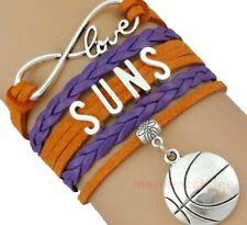 Phoenix Suns Infinity Jewelry Bracelet NBA Basketball Charm BRAND NEW