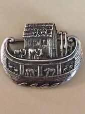 James Avery Noahs Ark Lapel Pin Sterling , vintage, retired design, good cond.