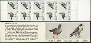 Norway 775-778a booklets,MNH.Michel MH 4-5. Birds 1981.Erythropus,Falcon,Puffin