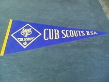 """Vintage Cub Scouts Pennant Flag!  29"""" WIDE!  ORG PRICE TAG!"""