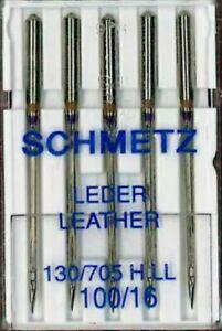 GERMAN SCHMETZ SEWING MACHINE LEATHER NEEDLES Size 100/16 HEAVY DUTY, STRONG