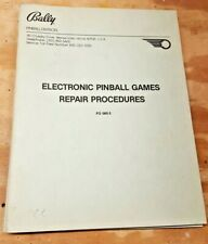 Bally Electronic Pinball Games Repair Procedure - FO560-3 October 1981