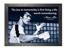 Bruce Lee 55 Hong Kong American Actor Film Director Martial Arts Quote Poster