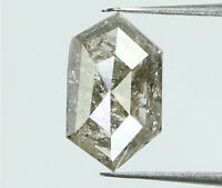 Natural Loose Diamond Hexagon Grey Color I3 Clarity 8.70 MM 0.84 Ct L7368