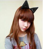 Women Girls Kids Pearl Cute Sweet Bunny Cat Kitty Ear Party Hair head band Hoop