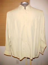 Tommy Bahama Men's 100 silk long Shirt Size Extra Large XL yellow green