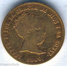 Isabel II 80 Reales 1849 Madrid C.L. oro @ Bella @