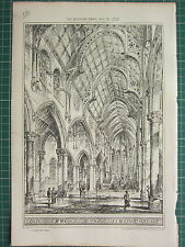 1877 DATED ARCHITECTURAL PRINT ~ CATHEDRAL ST MACARTAN'S MONAGHAN ARCH